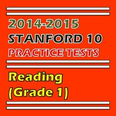 This SAT 10 practice test in reading for first grade is also a perfect tool for assessing students knowledge and skills in reading. Click the following link to see the preview and purchase the product. http://sirarthurdeesonlineteachingresources.com/
