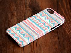 Pink and White Ethnic Aztec iPhone 6/5S/5C/5/4S/4 3D Wrap Case