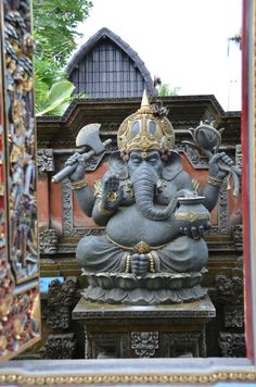 GaneshaGanesha  Gaṇeśa;  listen (help·info)), also spelled Ganesa, also known as Ganapati and Vinayaka is a widely worshiped deity in the Hindu pantheon. His image is found throughout India and Nepal. Hindu sects worship him regardless of affiliations.Devotion to Ganesha is widely diffused and extends to Jains, Buddhists, and beyond India. Although he is known by many attributes, Ganesha's elephant head, the patron of arts and sciences and the deva of intellect and wisdom