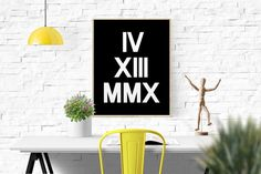 Custom Anniversary Roman Numerals Art by BeautyAndStyleDesign