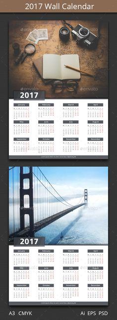 Classic Calendar Template 2016