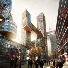 Danish architects BIG have designed a towering apartment block for Seoul that will be shaped like a hashtag.