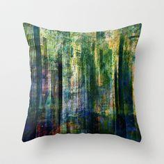 City blue Throw Pillow by Jean-François Dupuis - $20.00