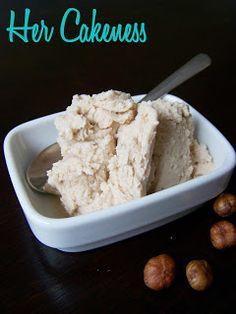 Her Cakeness: Hazel nut ice cream // Haselnusseis