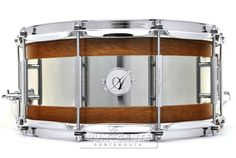 Acoutin Ply Mahogany/Stainless Steel Snare Drum 14x6.5
