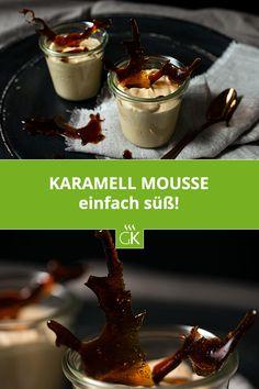 Das zart, cremige Karamell Mousse ist ein köstliches Dessert und superschnell zubereitet. #rezept #mousse #karamell #gutekueche #dessert #einfach #süß #lecker