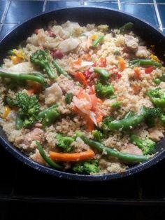 Quinoa con.veg y esparragos