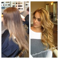 Before and After - Golden Blonde Balayage