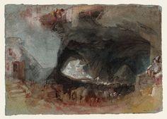 Inspirational Joseph Mallord William Turner uThe Interior of a Cave near Saumur u c