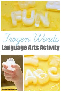 Make language arts more fun by making frozen words using a silicone letter ice…