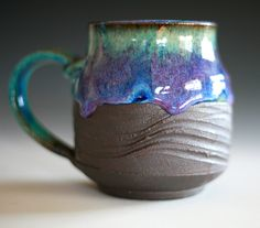 Large Coffee Mug, 18 oz, handmade ceramic cup, coffee cup. $25.00, via Etsy.