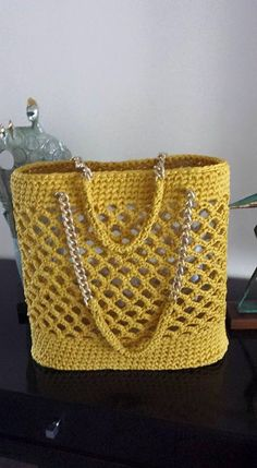 "Crochet bag ""Crochet Tote - Inspiration to create without a pattern."""