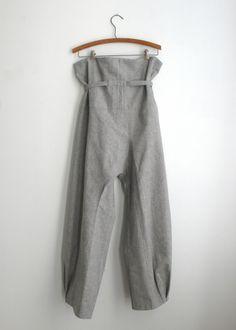Image of origami pants / grey duck