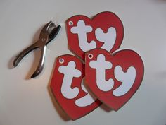 Beanie Baby tags for DIY dog costume