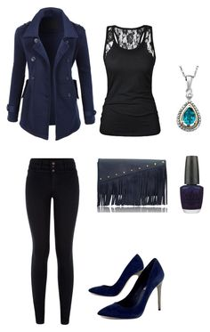 """""""Untitled #275"""" by sweet-strawberry-fairy ❤ liked on Polyvore featuring LE3NO, BCBGMAXAZRIA, Driftwood and OPI"""