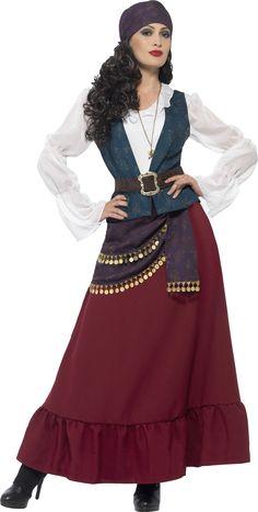 Feminer Style einer verwegenen Heldin im Gypsy Style. Schöne und dezente Interpretation als Verkleidung