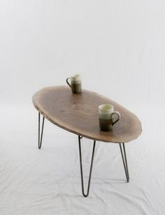 Modern oval coffee table looks really unique and interesting.