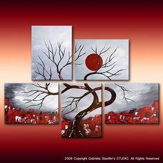 Pintura abstracta pintura paisaje pintura por GabrielaStauffer