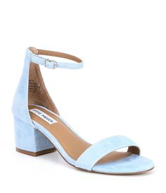 The bride can select from a variety of bridal or evening shoes from a bridal boutique or online wedding store. Light Blue Wedding Shoes, Light Blue Heels, Wedding Shoes Heels, Wedding Shoes Block Heel, Dress And Heels, Dress Sandals, Women's Shoes Sandals, Blue Sandals, Low Heel Shoes