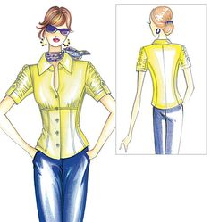 F2502 | Marfy Blouse | Tops / Blouses | Butterick Patterns
