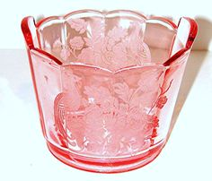 Paden City Glass | Peacock Wild Rose Paden City Depression Elegant Glass