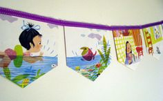 I Can Fly Storybook Paper Bunting by MagpieSailor on Etsy