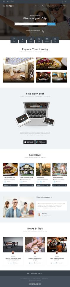Buy ListingPro - HTML Multipurpose Directory Template by CridioStudio on ThemeForest. ListingPro Multi-purpose Directory HTML Template ListingPro is advanced directory template. It contains all files re. Homepage Web, Simple Web Design, Html Templates, Ux Design, Website Template, Design Inspiration, Design Ideas, Free, Inspirational