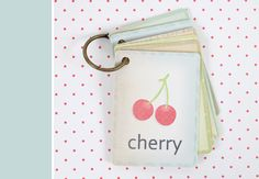 Printable Vintage Flash Cards using the new cotton canvas!