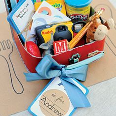 Kid-Friendly Care Packages for Kid-Friendly Weddings from MyRecipes.com//adapted for other events?