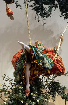 Artwork page for 'The Swing (after Fragonard)', Yinka Shonibare, MBE, 2001 Pablo Picasso, Art Textile, Installation Art, Art Installations, Artist Art, Contemporary Artists, Modern Art, African Art, Art World