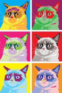 Pop art Grumpy Cat