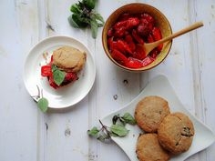 Strawberry Shortcakes with Cinnamon Basil