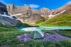 Day Hike to Cracker Lake, Montana Best Places To Camp, Camping Places, Tent Camping, Outdoor Camping, Places To Go, Camping Ideas, Glacier National Park Camping, Glacier National Park Montana, Glacier Np