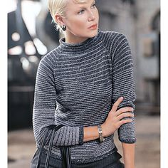 #19 Striped Pullover  by Teva Durham    Published in   Vogue Knitting, Winter 2005/06  Vogue Knitting Online Store