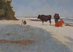 Nora Newton - Nquni Cattle on Umnaqazi Beach Animal House, In My Feelings, Cows, Cattle, Places To Go, Art Ideas, Ipad, Paintings, Illustrations