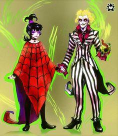 Beetlejuice and Lydia by E-X-P-I-E.deviantart.com on @deviantART