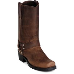 """Durango Women's 10"""" Classic Brown Harness Boot - Style #RD594"""
