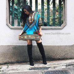 Light Blue African Dashiki Shirt Only $15
