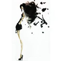 Watercolor, Fashion Illustration by Claire Thompson