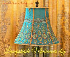 Lamp Shade Makeover.  Great video!  His way is so simple - I couldn't believe it.  It looked like he had a hot glue gun with a fine tip.  Most glue guns are gloppy.