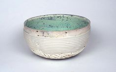 Ani Kasten; Green and white bowl with porcelain ring