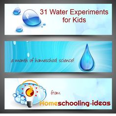 31 Water Experiments for kids with the scientific principles explained - perfect for homeschool science. Science Curriculum, Preschool Science, Teaching Science, Science For Kids, Science Activities, Science Kits, Science Ideas, Water Experiments For Kids, Science Fair Projects