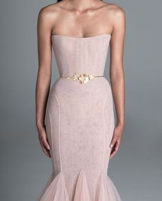 Strapless Colored pink mermaid wedding dress for your reception | Spring 2020 Wedding Dresses by Paolo Sebastian - Perfete Disney Wedding Dresses, Pakistani Wedding Dresses, Princess Wedding Dresses, Wedding Dresses Plus Size, Colored Wedding Dresses, Modest Wedding Dresses, Wedding Gowns, Plus Size Vintage, Ball Dresses