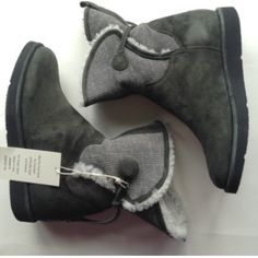 """NEW UGG COLLECTION authentic Italian ankle boot 10 Step it up a notch in your UGG collection by adding these MADE IN ITALY boots from the UGG Collection. Worn folded or with the cuffs up, these shearling stunners from UGG Collection are a great addition to your winter wardrobe.  Round toe; pull on; buckled shaft  0.25"""" wedge; 7.75"""" shaft height with adjustable circumference    Real lamb fur, dyed; fur imported from Spain  Suede upper, lamb fur lining, manmade sole Pics are mine of actual…"""