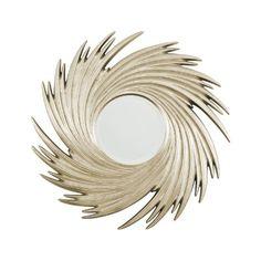 Premier Housewares Sunburst Swirl Wall Mirror, Champagne:Amazon:Kitchen & Home