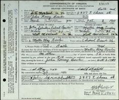Dinkey J Bowler and Laura Frances Woodard Commonwealth of Virginia ...