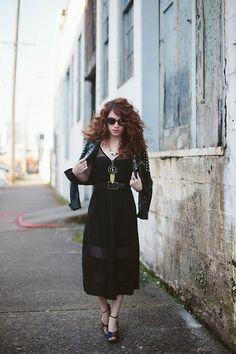 Mod Cloth Dress, Mod Cloth Jacket, Seychelles Shoes, Bon Look Sunglasses