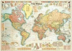 Amazon world map vintage style art poster print 24x36 20x28 cream world map gumiabroncs Gallery
