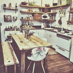 kitchen+leah+hoffman+at+home+in+her+loft+apartment+nashville+bohemian+inspiration.jpg 640×640 pixels