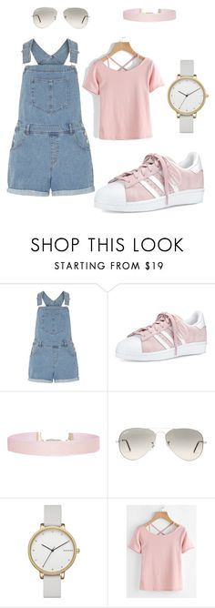 """"""""""" by ava-richard ❤ liked on Polyvore featuring Dorothy Perkins, adidas, Humble Chic, Ray-Ban and Skagen"""